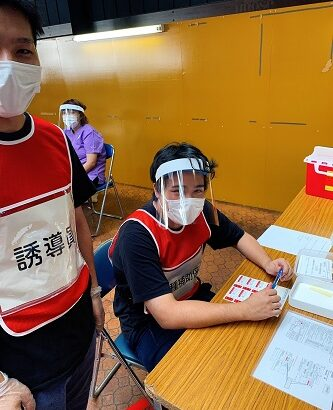 職域接種@LINKAIに当ラボ学生さんがボランティア参加